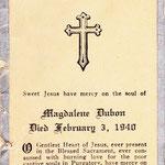 Dubon, Magdalena - 1940