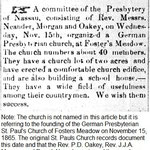 Queens County Sentinel - Presb. Church Organized - Nov, 23, 1865.