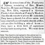 Queens County Sentinel - Presb. Church Organized - Nov, 23, 1865.