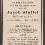 Stattel, Jacob - 1918