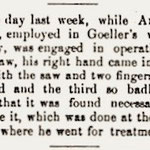 Hempstead Sentinel - Andrew Christ Wagon Factory Accident - Sept. 14, 1899