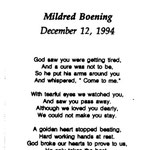 Boening, Mildred  - 1994
