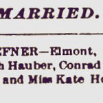 Hempstead Sentinel - Christ-Hoeffner Marriage -Jan. 24, 1895