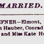 Hempstead Sentinel - Christ-Hoeffner Marriage -Jan. 24, 1895