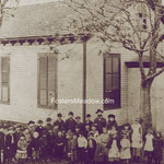 Fosters Meadow School, School Street, Elmont LI - circa 1870 - Teacher, Mr. Conklin