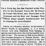 Brooklyn Eagle - The Bridegroom Came Not - Farmer Muller's Daughter Still Waiting - Jan. 31, 1894 pg - 1