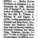 Knell, Bertha M. - 1998