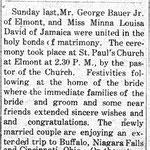 Hempstead Sentinel - Bauer -  David Marriage - March 4, 1909