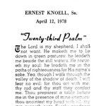 Knoell, Ernest Sr. - 1978