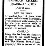Christ, Conrad - 1933