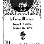Lennie, John A. - 1970