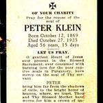 Klein, Peter - 1925