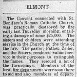 Hempstead Sentinel - St. Boniface Convent Fire - Martch 28, 1912