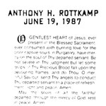 Rottkamp, Anthony H. - 1987