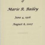 Bailey, Marie - 2007