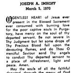 Imhoff, Joseph A. - 1970