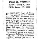 Hoeffner, Philip H. - 1997