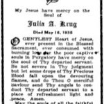 Krug, Julia A. - 1935