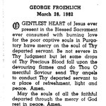 Froehlich, George - 1962