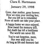 Hartmann, Clara E. - 1998