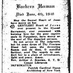 Herman, Barbara - 1940