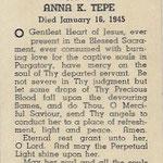 Tepe, Anna K. - 1945