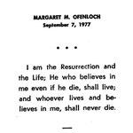 Ofenloch, Margaret M. - 1977