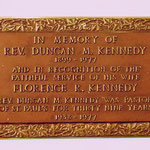 In memory of Rev. Duncan Kennedy 1899-1977