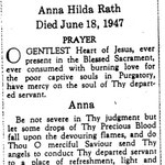 Rath, Anna Hilda - 1947