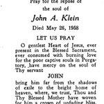 Klein, John A. - 1958