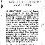 Hoeffner, August A. - 1982
