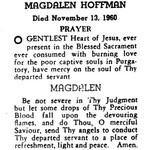Hoffman, Magdalen - 1960