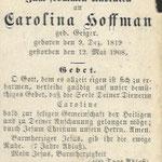 Hoffman, Carolina - 1908