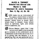 Tierney, Alice A. - 1989