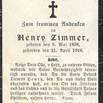 Zimmer, Henry - 1916
