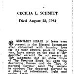 Schmitt, Cecilia L. - 1964