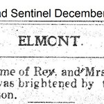 Hempstead Sentinel - Rev. Espach Son Arrives - Dec. 26, 1912
