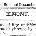 Hempstead Sentinel - Rev. Espach Son Arrives - Dec. 26, 1912