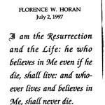 Horan, Florence W. - 1997