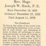 Hack, Rev. Msgr. Joseph - 1978