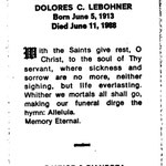 Lebohner, Dolores C. - 1988
