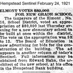 Hempstead Sentinel - Elmont New School - March 24, 1921