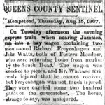 Queens County Sentinel - Train and Wagon wreck - Aug. 15, 1867