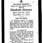 Herman, Elizabeth - 1926