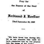 Hoeffner, Ferdinand J. - 1969
