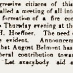 Hempstead Sentinel - Progressive Citizens - Formation of Belmont Fire Dept. - Feb. 9, 1905