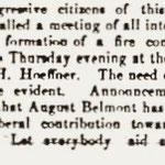 Hempstead Sentinel - Progressive Citizens - Formation of Belmont Fire Dept. - Feb. 9, 1905