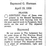 Herman, Raymond G. - 1958.