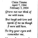 Timme, Claire - 2004