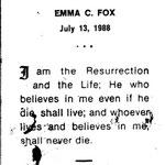Fox, Emma C. - 1988